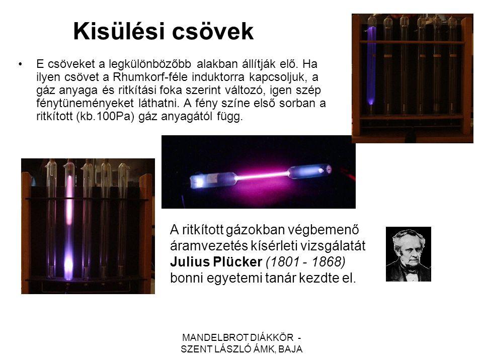 MANDELBROT DIÁKKÖR - SZENT LÁSZLÓ ÁMK, BAJA Geissler-csövek