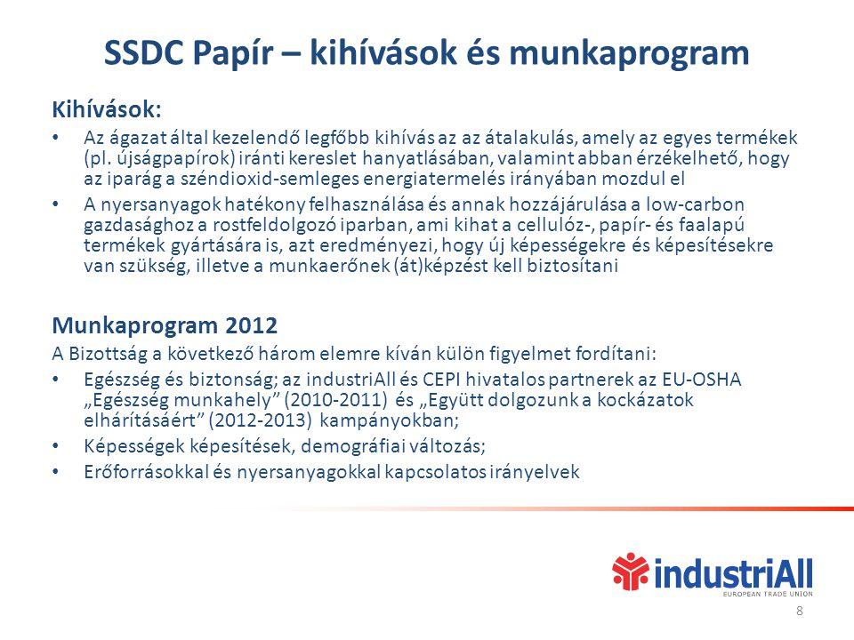 Egyéni szervezeti felépítések és munkaprogramok SSDC Kitermelő iparágak – szervezeti felépítés Ez a SSDC 2000-ben jött létre.