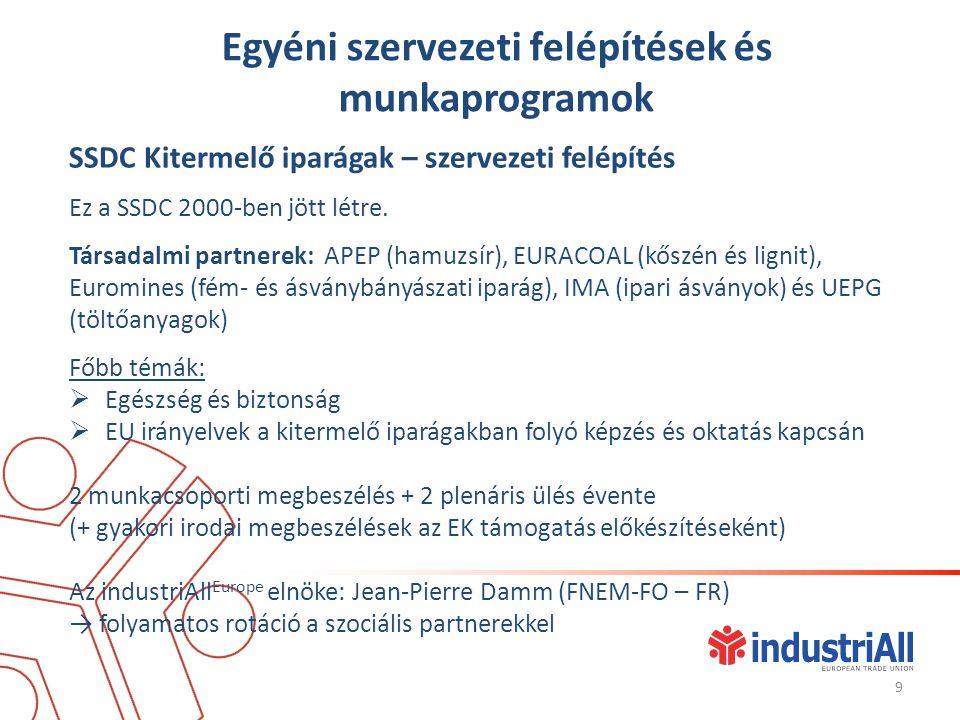 Versenyképesség és foglalkoztatás  Flexicurity vita (2011/12): a Fémiparnak alkalmazkadóképességre van szüksége (hajtóerők és a vállalatok rugalmasság iránti igényének a mértéke, fő eszközök és azok hatásai), továbbá rugalmas foglalkoztatásra a Fémiparban (mérték, motivációk, előnyök, hátrányok)  közös elhatározások.