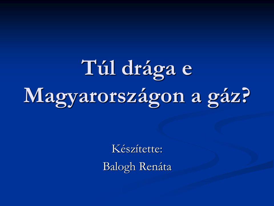 Túl drága e Magyarországon a gáz Készítette: Balogh Renáta