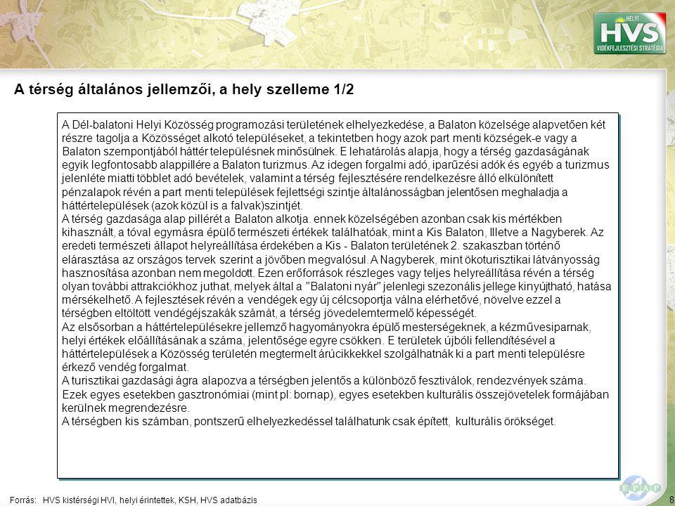 """79 A 10 legfontosabb gazdaságfejlesztési megoldási javaslat 7/10 Forrás:HVS kistérségi HVI, helyi érintettek, HVS adatbázis ▪""""Szálláshely-szolgáltatás és vendéglátás A 10 legfontosabb gazdaságfejlesztési megoldási javaslatból a legtöbb – 6 db – a(z) Egyéb tevékenység szektorhoz kapcsolódik 7 ▪""""A Dél-balatoni Helyi Közösség területén az alkalmi falusi- agro- és ökoturisztikai szolgáltatások kiépítése, a már működő szolgáltatások bővítése, korszerűsítése, fejlesztése az ingatlanhoz kapcsolódó kis léptékű infrastruktúra és rekreációs beruházások révén."""