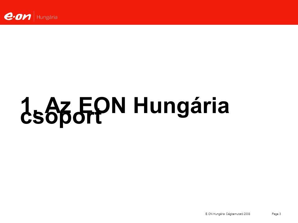 E.ON Hungária Cégbemutató 2008Page 3 1. Az EON Hungária csoport
