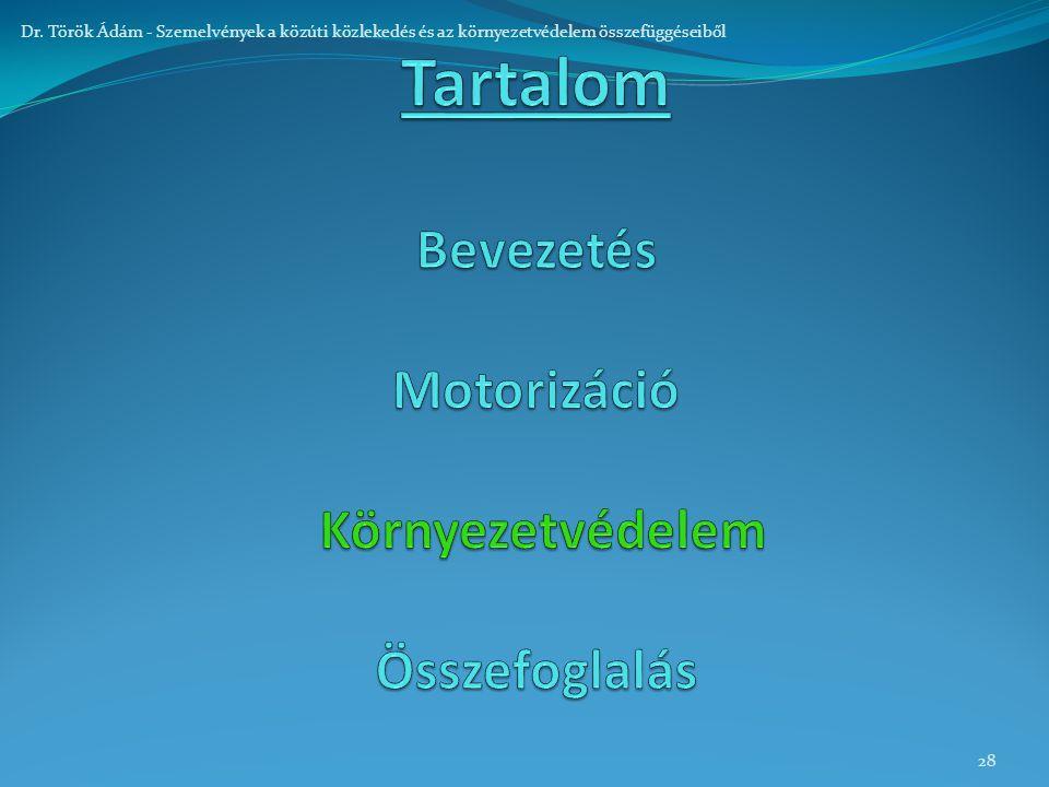 28 Dr. Török Ádám - Szemelvények a közúti közlekedés és az környezetvédelem összefüggéseiből