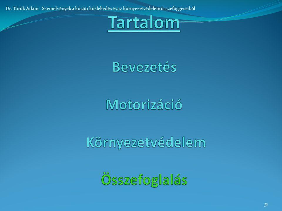 31 Dr. Török Ádám - Szemelvények a közúti közlekedés és az környezetvédelem összefüggéseiből