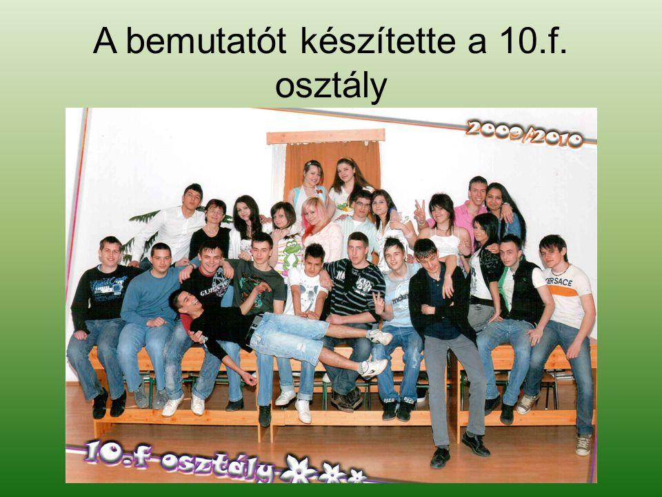 A bemutatót készítette a 10.f. osztály