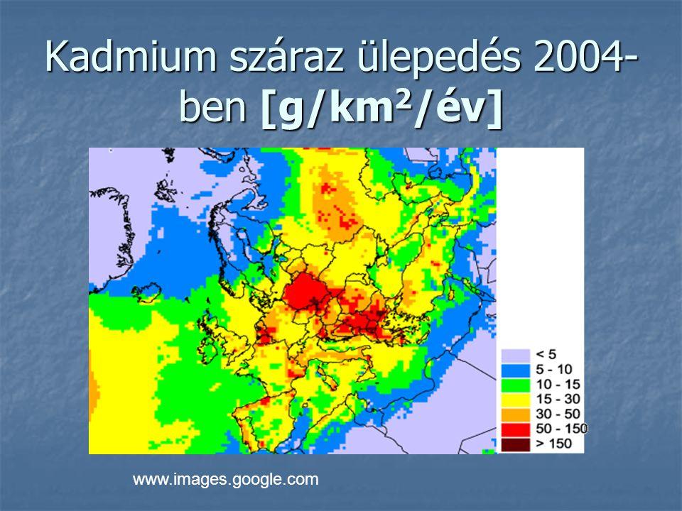 Ólom száraz ülepedés 2004-ben [g/km 2 /év] www.images.google.com