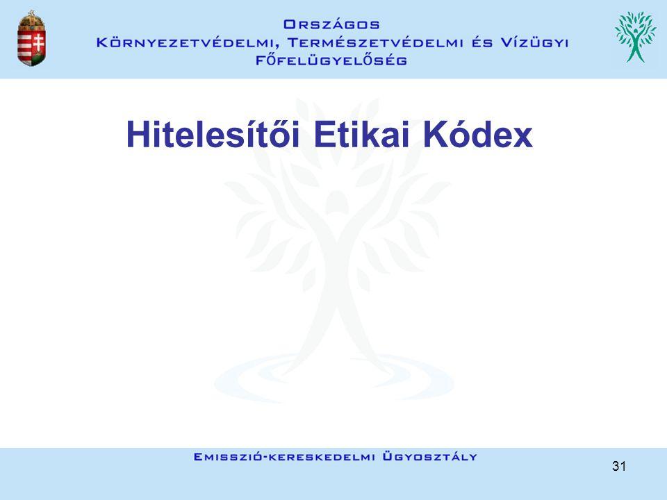 31 Hitelesítői Etikai Kódex