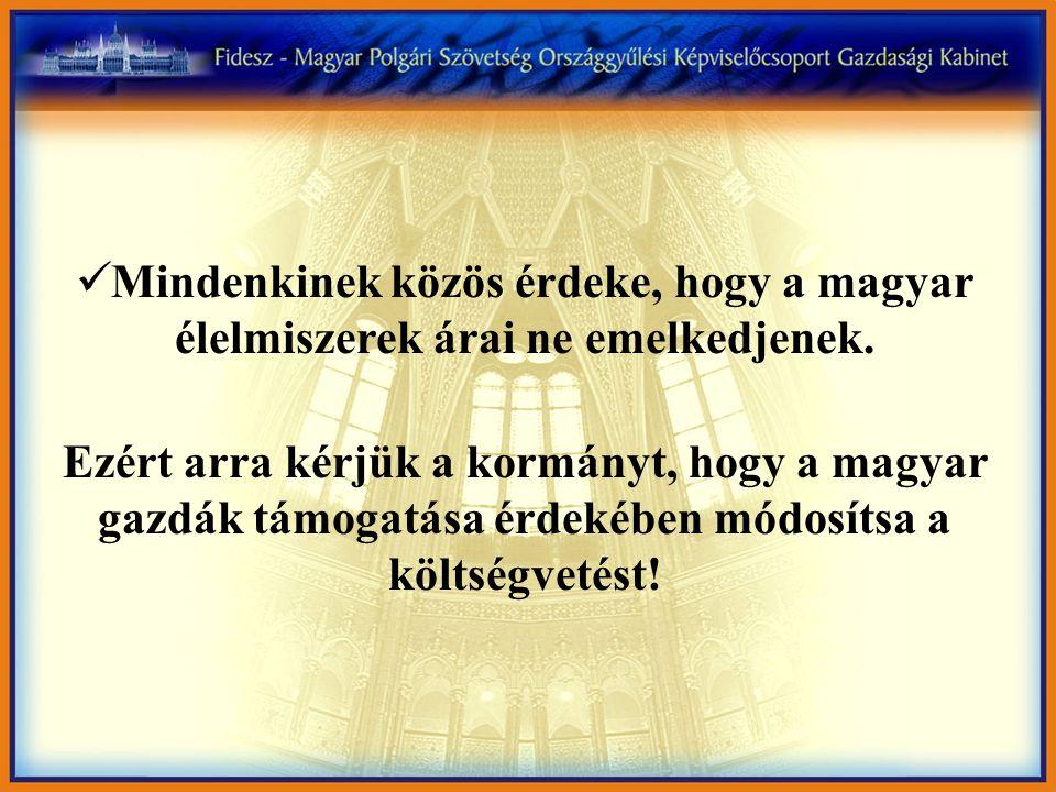 Mindenkinek közös érdeke, hogy a magyar élelmiszerek árai ne emelkedjenek.
