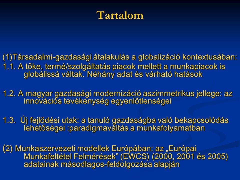 Tartalom (1)Társadalmi-gazdasági átalakulás a globalizáció kontextusában: 1.1.