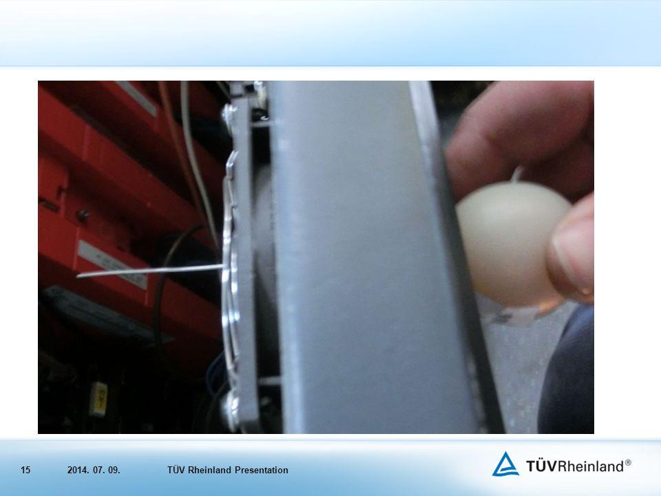 152014. 07. 09.TÜV Rheinland Presentation