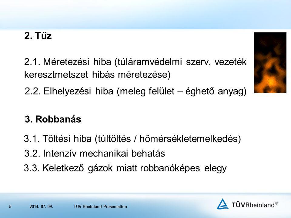 52014.07. 09.TÜV Rheinland Presentation 2. Tűz 2.1.