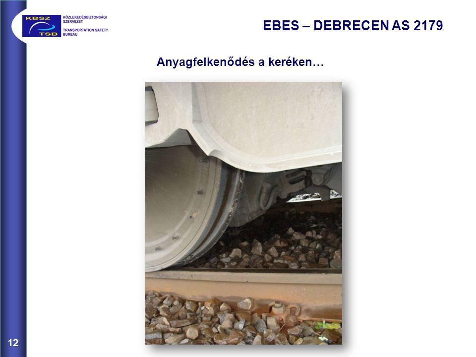 12 EBES – DEBRECEN AS 2179 Anyagfelkenődés a keréken… 12