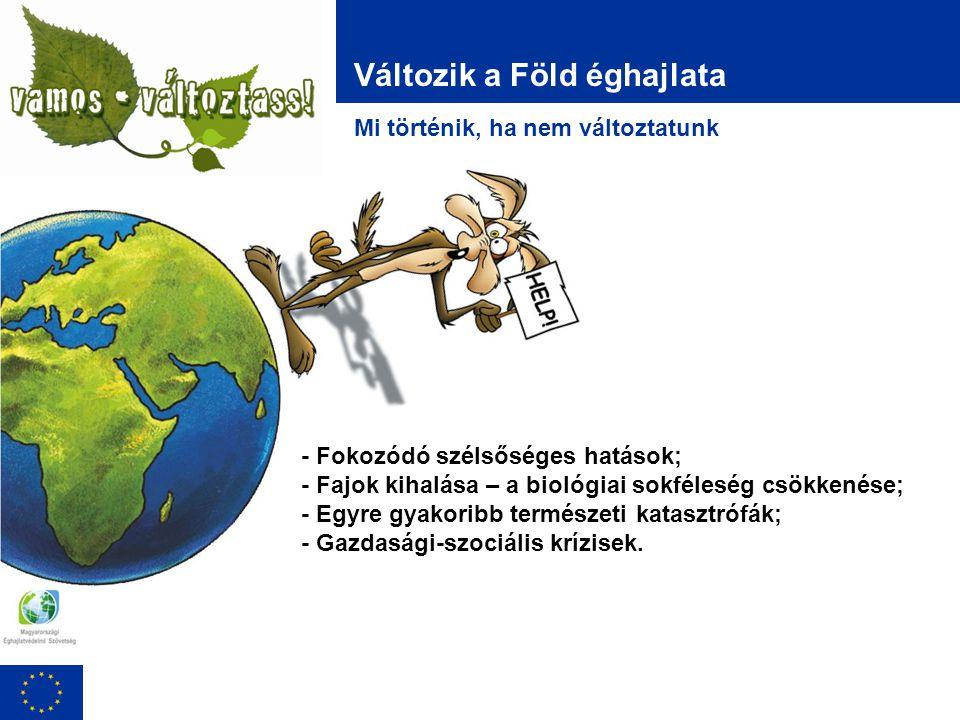 Ökológiai lábnyomunk Te is felelős vagy!