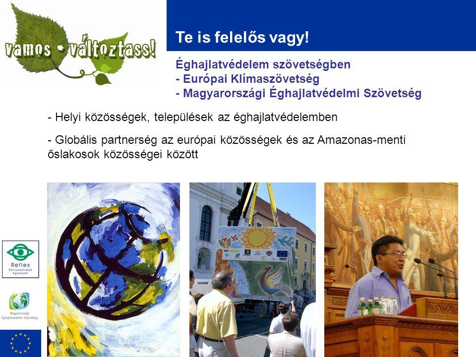 Éghajlatvédelem szövetségben - Európai Klímaszövetség - Magyarországi Éghajlatvédelmi Szövetség Te is felelős vagy.