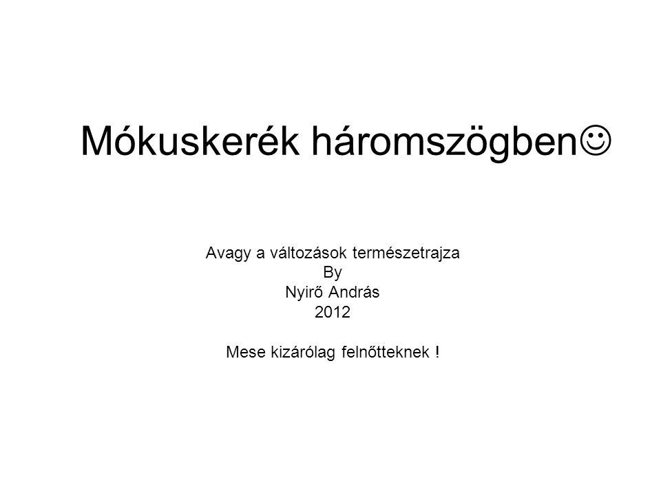 Mókuskerék háromszögben Avagy a változások természetrajza By Nyirő András 2012 Mese kizárólag felnőtteknek !