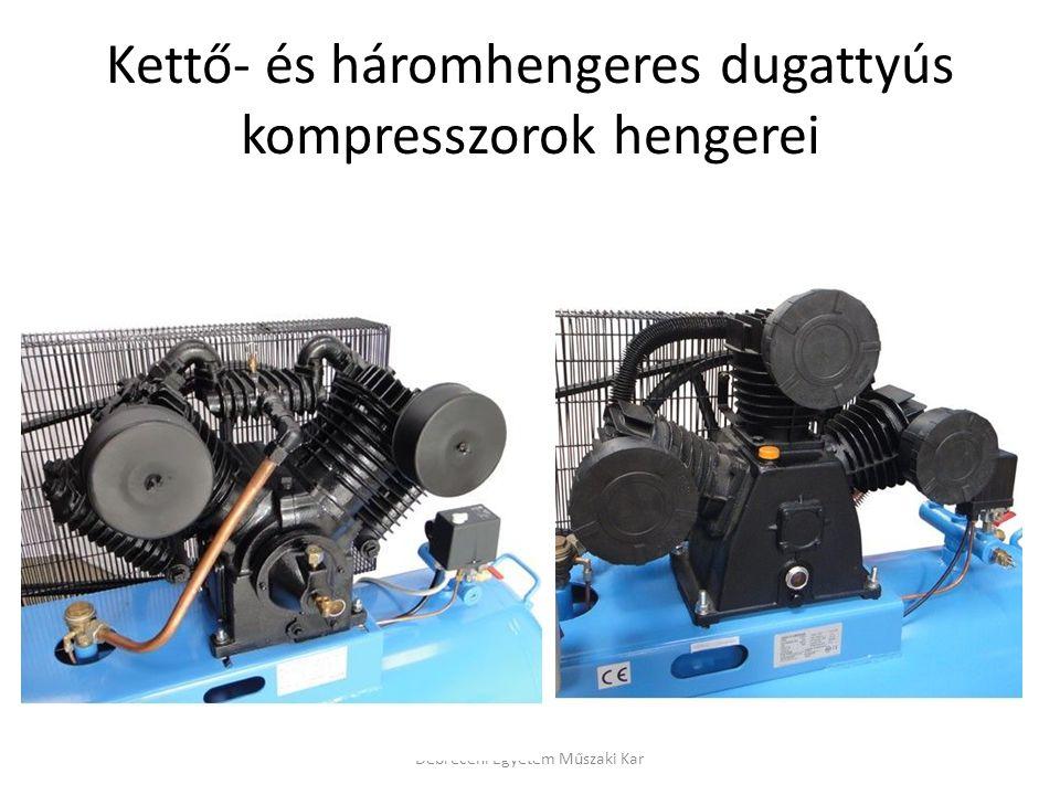 Kettő- és háromhengeres dugattyús kompresszorok hengerei Debreceni Egyetem Műszaki Kar