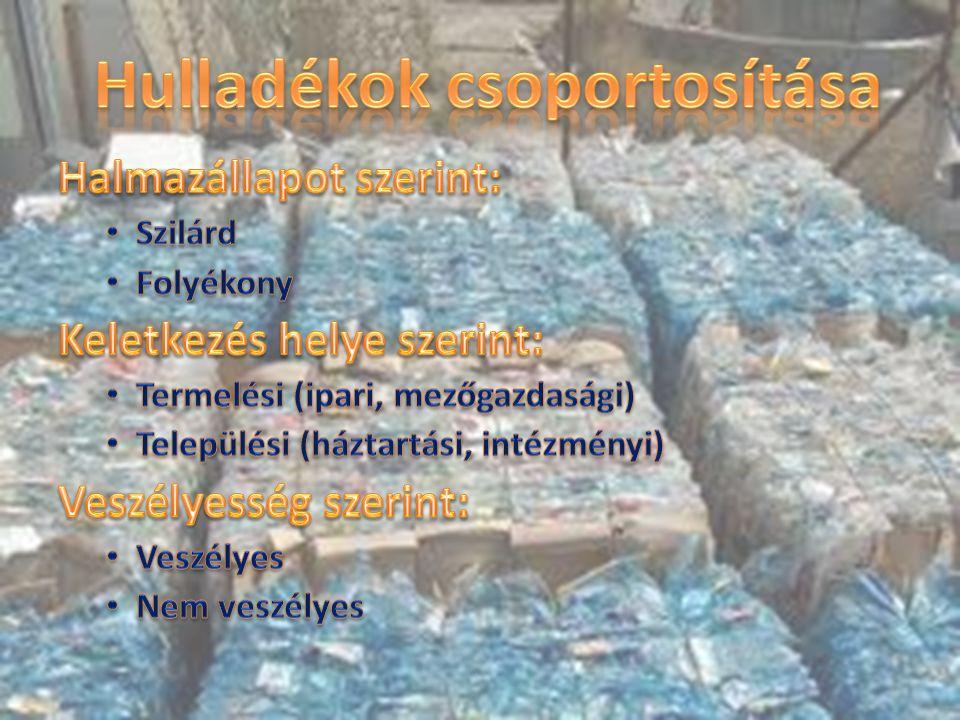 A szelektív gyűjtés a különböző alapanyagú hullakékfajták külön gyűjtését jelenti.