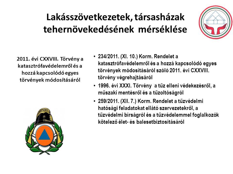 Lakásszövetkezetek, társasházak tehernövekedésének mérséklése 234/2011.