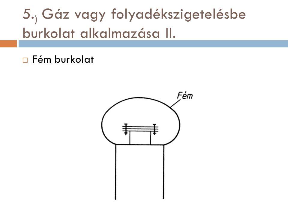 5. ) Gáz vagy folyadékszigetelésbe burkolat alkalmazása II.  Fém burkolat