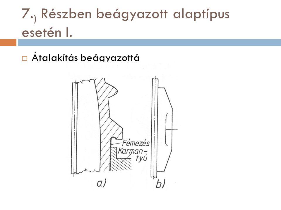 7. ) Részben beágyazott alaptípus esetén I.  Átalakítás beágyazottá