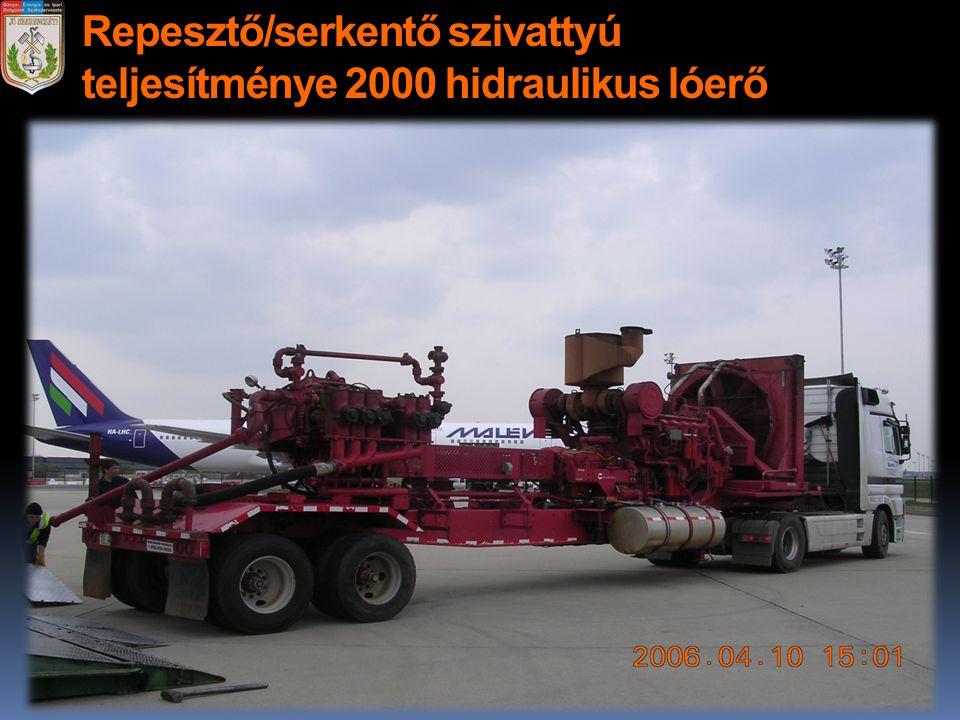 Repesztő/serkentő szivattyú teljesítménye 2000 hidraulikus lóerő