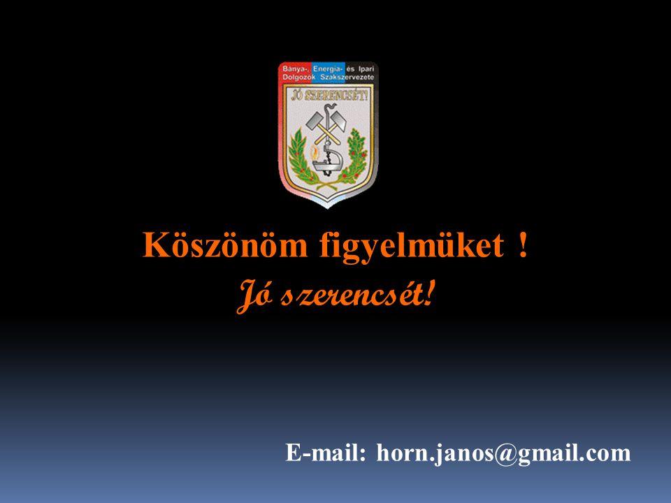 Köszönöm figyelmüket ! Jó szerencsét! E-mail: horn.janos@gmail.com