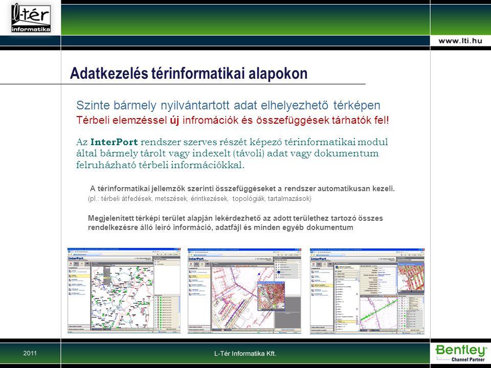 Adatkezelés térinformatikai alapokon Térbeli elemzéssel új infromációk és összefüggések tárhatók fel.