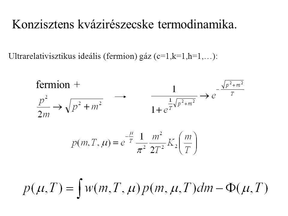 Konzisztens kvázirészecske termodinamika.