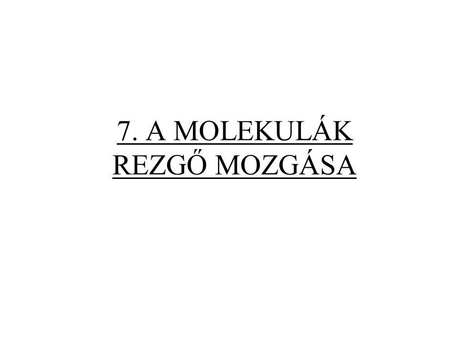 7.2. A többatomos molekulák rezgőmozgása