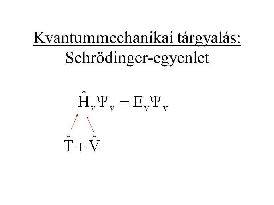 Kvantummechanikai tárgyalás: Schrödinger-egyenlet
