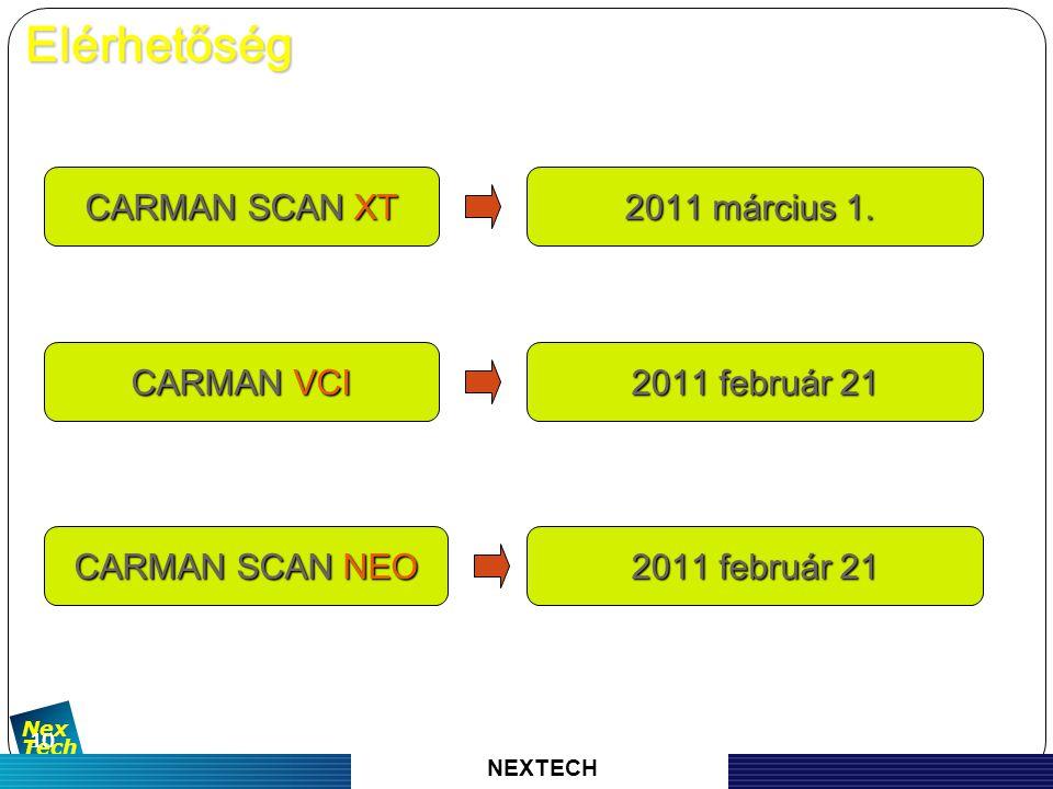 자 동 차 진 단 기 기 의 명 가 Nex Tech 10 CARMAN SCAN XT 2011 március 1.