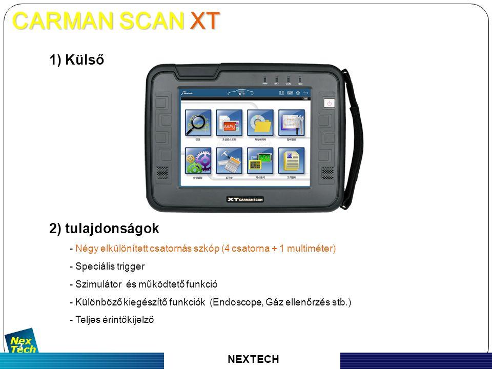 자 동 차 진 단 기 기 의 명 가 Nex Tech 4 3) Specification CARMAN SCAN XT CARMAN SCAN XT NEXTECH