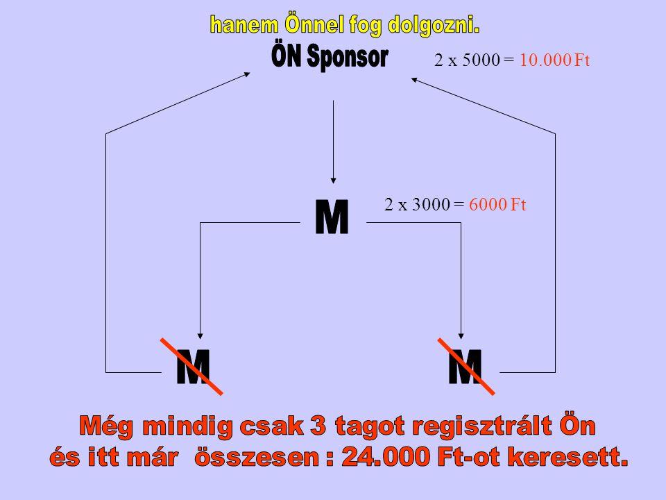 2 x 3000 = 6000 Ft 2 x 5000 = 10.000 Ft