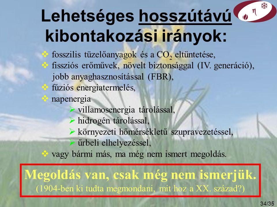 33/35 Importfüggőség különböző energetikai szcenáriók esetén