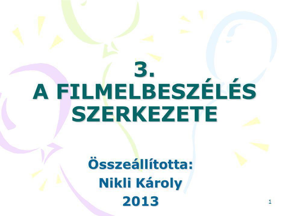 3. A FILMELBESZÉLÉS SZERKEZETE Összeállította: Nikli Károly 2013 1