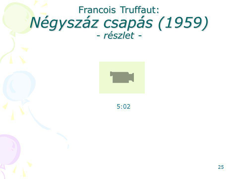 Francois Truffaut: Négyszáz csapás (1959) - részlet - 5:02 25