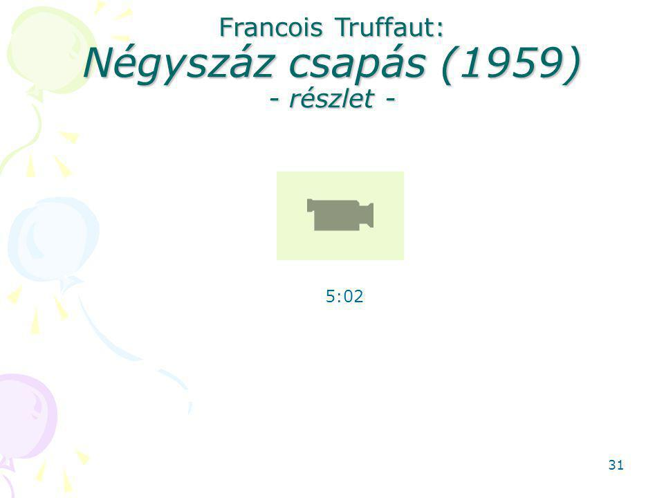 Francois Truffaut: Négyszáz csapás (1959) - részlet - 5:02 31