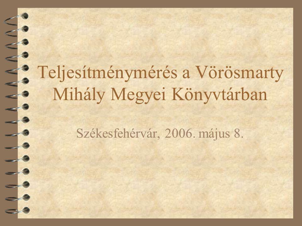 Teljesítménymérés a Vörösmarty Mihály Megyei Könyvtárban Székesfehérvár, 2006. május 8.