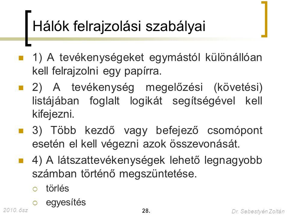 2010.ősz Dr. Sebestyén Zoltán 28.