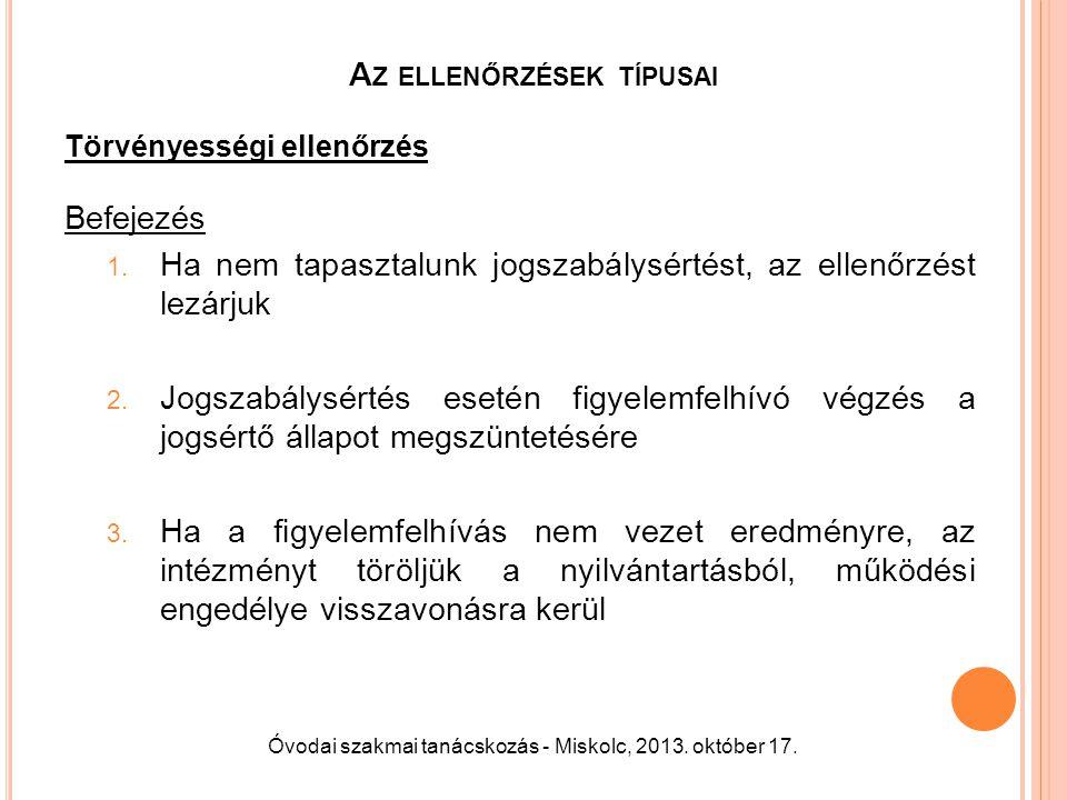 A Z ELLENŐRZÉSEK TÍPUSAI Hatósági ellenőrzés 1.