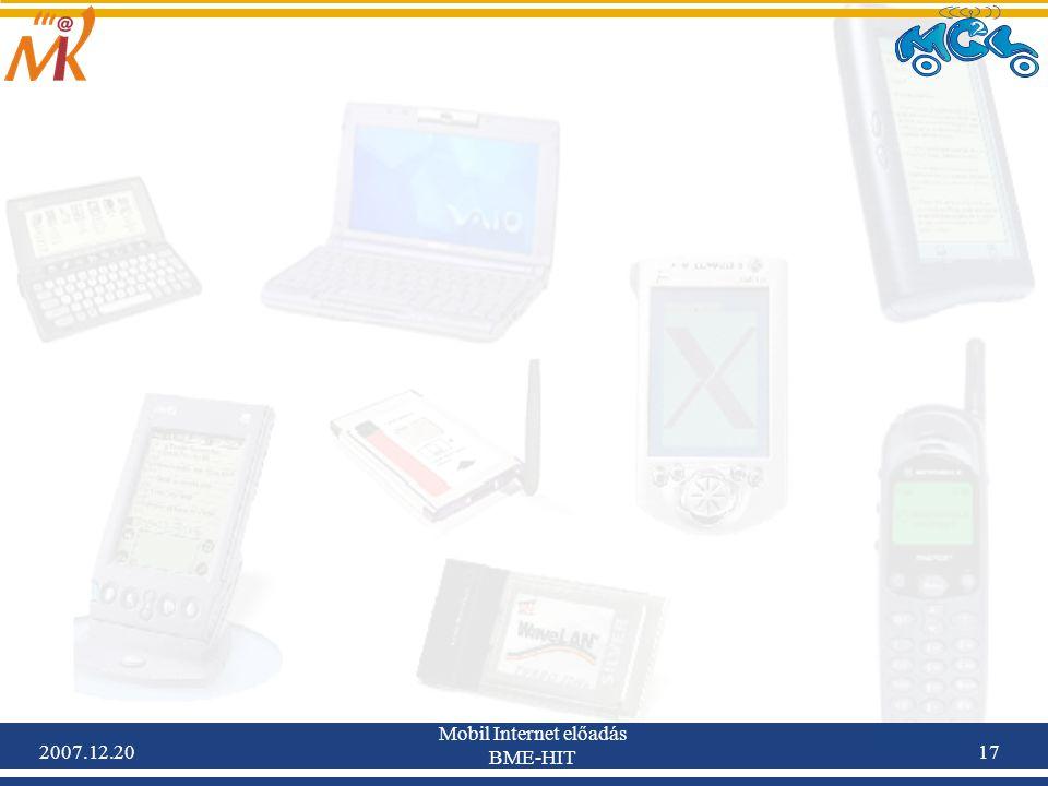 2007.12.20 Mobil Internet előadás BME-HIT 17