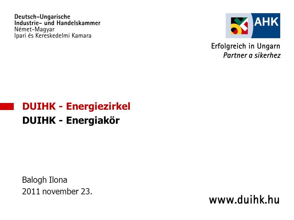 3 DUIHK - Energiezirkel DUIHK - Energiakör Balogh Ilona 2011 november 23.