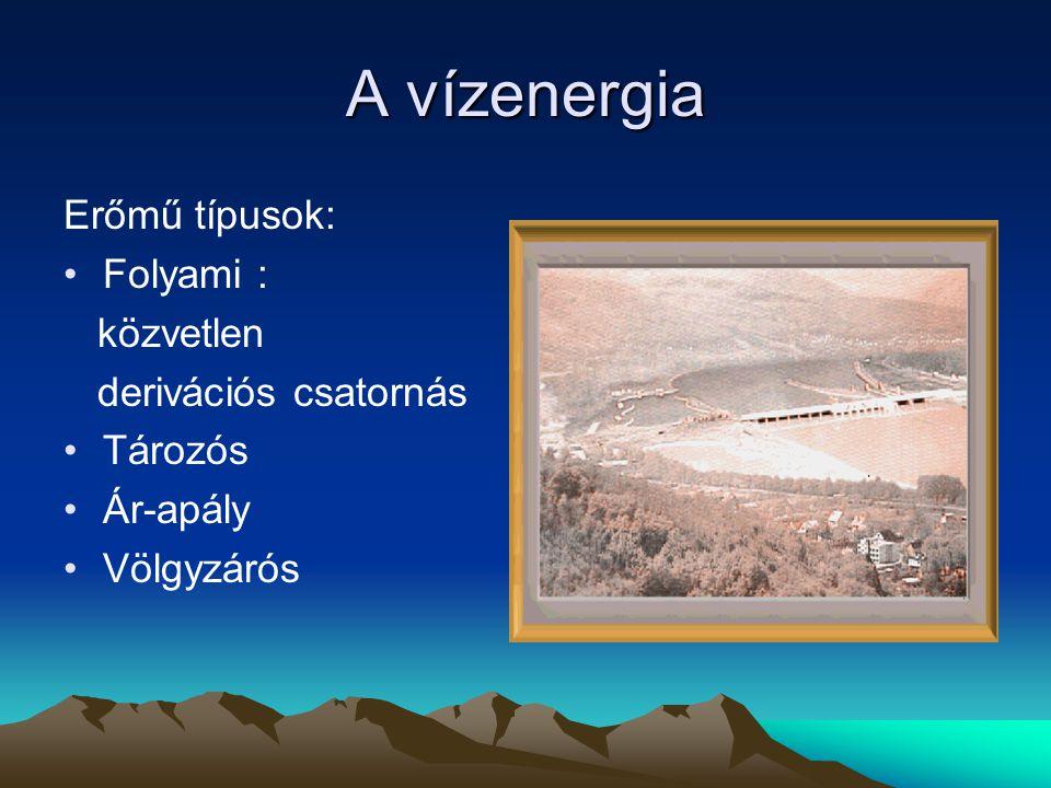 Napenergia Alapja: fúzió Teljesítmény a Nap felületén: 60 MW/m2 Teljesítmény a Föld felületén: 1,4 kW/m2 Hasznosítási lehetőség: ipari, háztartási Villamos energia, hőenergia