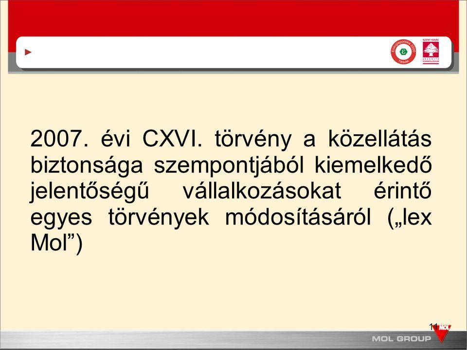 11 2007. évi CXVI.