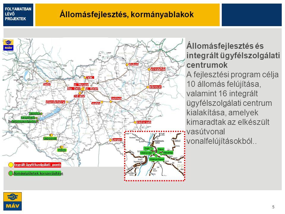 6 A projekt a Budapest – Esztergom vasútvonalon folyamatban lévő infrastruktúra fejlesztés következő fázisa.