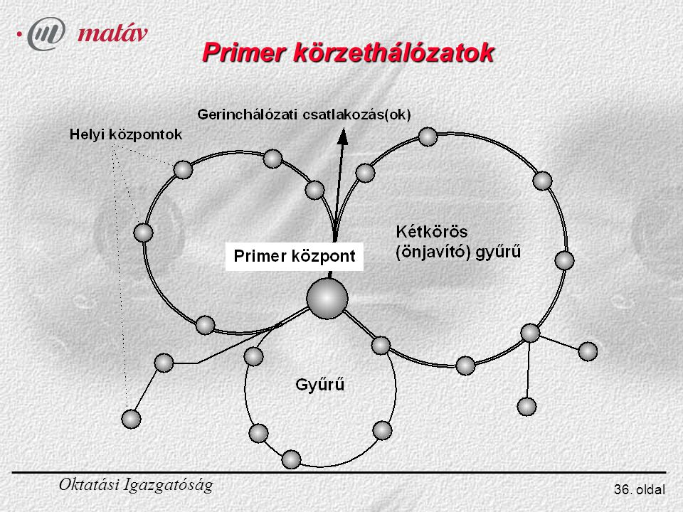 Oktatási Igazgatóság 36. oldal Primer körzethálózatok