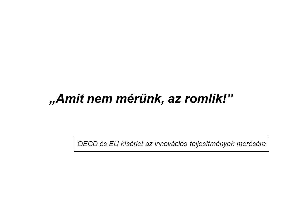 """""""Amit nem mérünk, az romlik!"""" OECD és EU kísérlet az innovációs teljesítmények mérésére"""
