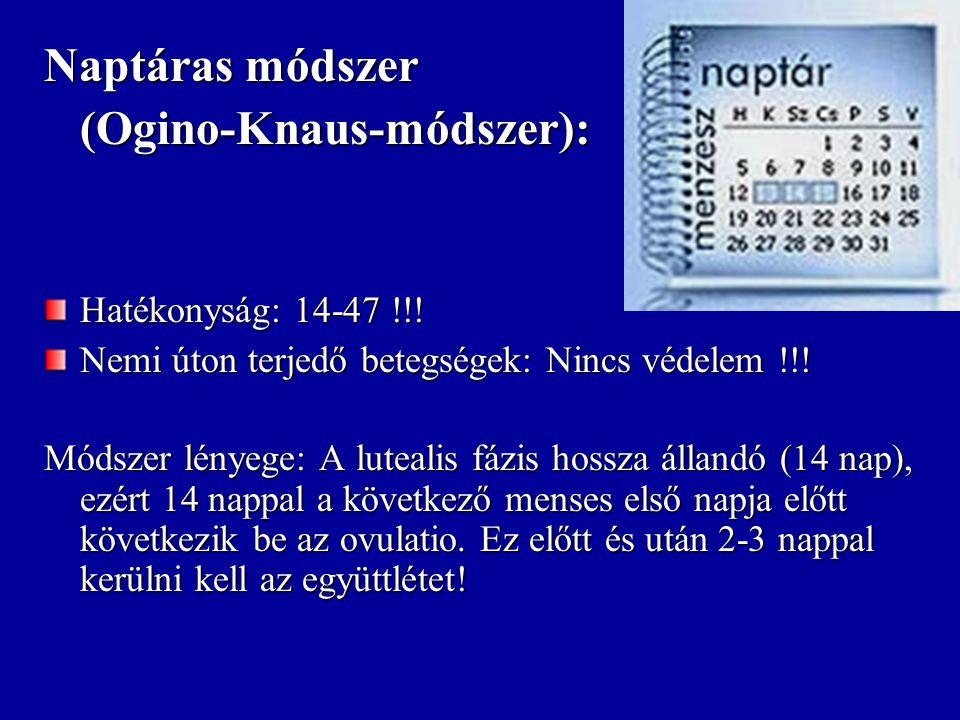 Hőmérő- (Hildebrand) módszer Hatékonyság: 12-40 !!.
