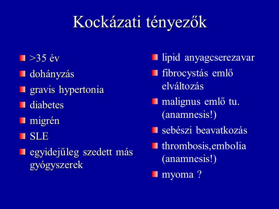 Relatív kockázat - thrombosis Leiden faktor v.