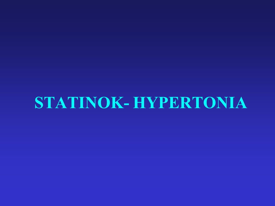 STATINOK- HYPERTONIA